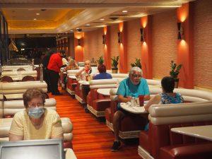 People at Rainbow Club Casino's restaurant