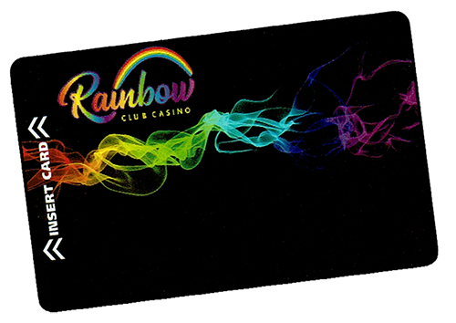 Rainbow Club Casino's reward card