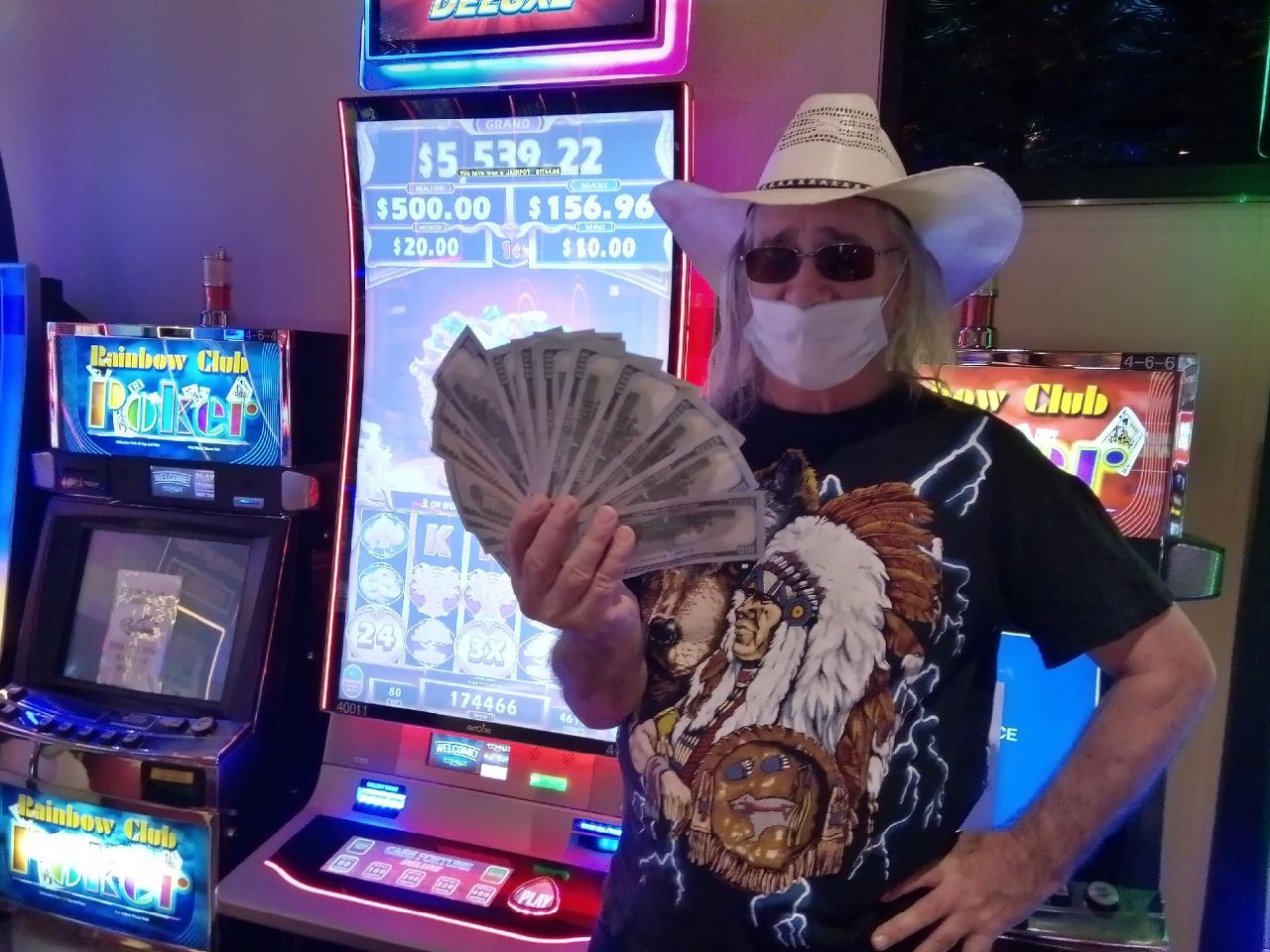Rick Bell won $1, 744 at Rainbow Casino Club