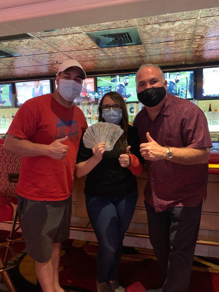 Stephanie R. won $4,000 at Rainbow Casino Club