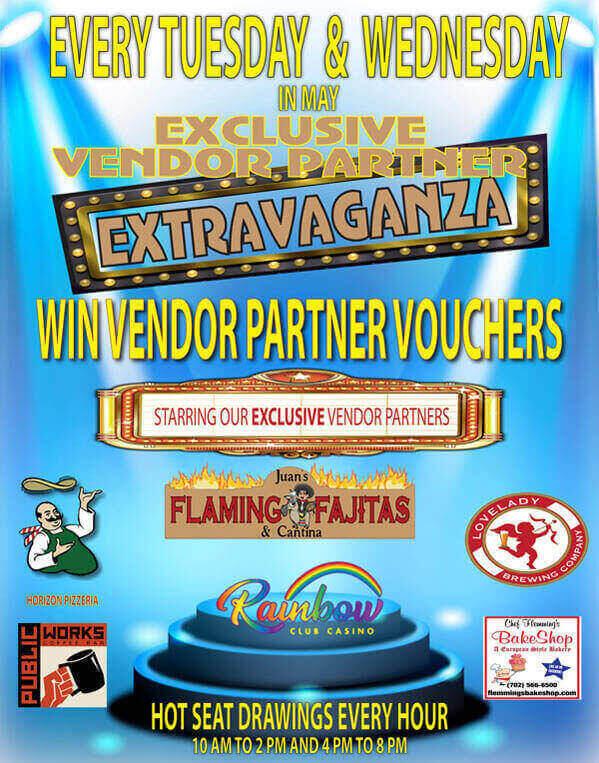 Rainbow Club Casino VENDOR PARTNER EXTRAVAGANZE MAY 2021