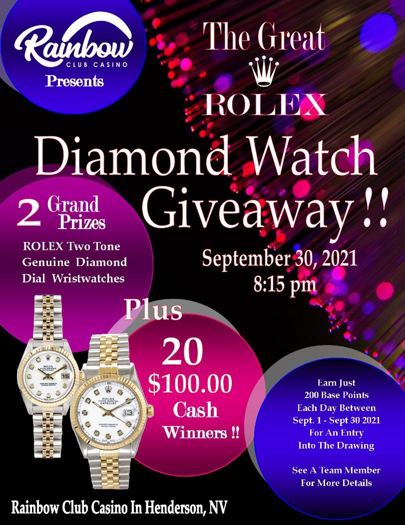 Rainbow Club Rolex Giveaway
