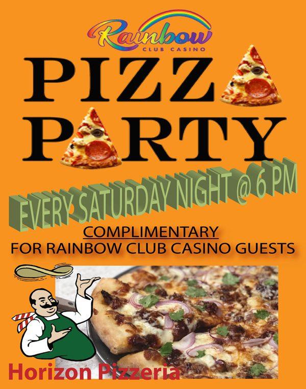 Pizza Party - Rainbow Club Casino